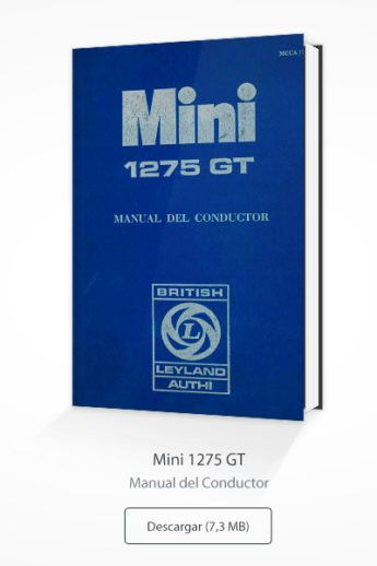 Manual Conductor Authi Mini 1275GT